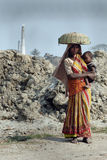 Frauen-Arbeit in Indien Stockbilder