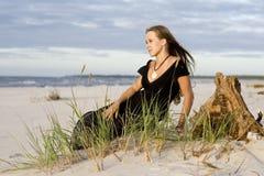 Frauen auf dem Strand Stockfoto