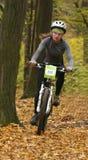 Frauen auf Fahrrad. Lizenzfreies Stockbild