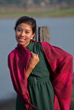 Frauen auf Myanmar stockfotos