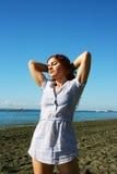 Frauen auf Strand Lizenzfreies Stockfoto