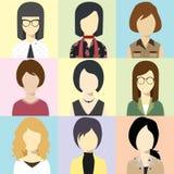 Frauen-Avatara-Blitz-Vektor Stockbild