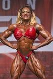 Frauen-Bodybuilder-Flex zu Toronto-Protitel Stockfotografie