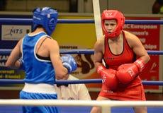 Frauen-Boxen Lizenzfreies Stockbild
