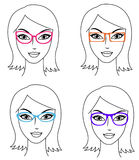 Frauen in den Gläsern Lizenzfreies Stockbild