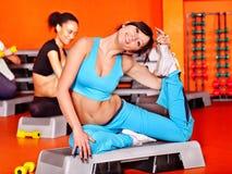 Frauen in der Aerobicklasse. Lizenzfreies Stockbild