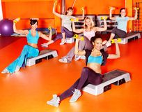 Frauen in der Aerobicklasse. Lizenzfreie Stockfotos