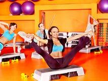 Frauen in der Aerobicsklasse. Lizenzfreies Stockfoto