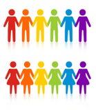 Frauen der homosexuellen Männer vektor abbildung