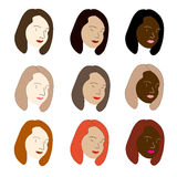 Frauen der Welt Lizenzfreies Stockbild