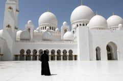 Frauen Dhabi-Dubai am Scheich Zayed Mosque Stockfotografie