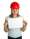 Frauen, die ein Blatt Papier anhalten Lizenzfreies Stockfoto