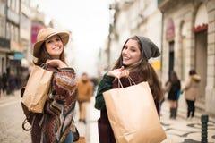 Frauen-Einkauf Lizenzfreies Stockbild