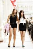 Frauen am Einkaufen stockbild