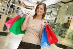 Frauen-Einkaufen Stockbild