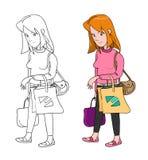 Frauen-Einkaufen (2 Veränderungen) Lizenzfreies Stockfoto