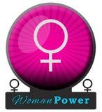 Frauen-Energie-Rosa-Explosions-Kreis Lizenzfreie Stockfotos