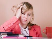 Frauen fallen schlafend Lizenzfreie Stockfotos