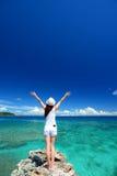 Frauen genießen die Sonne. Lizenzfreies Stockbild