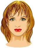 Frauen-Gesicht lizenzfreie stockfotos