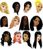 Frauen-Gesichter 3 Lizenzfreies Stockbild