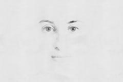 Frauen-Gesichts-Skizze stockfotografie