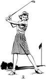 Frauen-Golfspieler 2 lizenzfreie abbildung