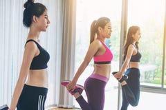 Frauen gruppieren aerobes im Eignungssportunterricht Lizenzfreies Stockfoto