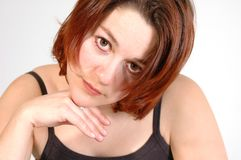 Frauen-Haltung Stockfoto
