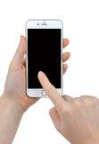 Frauen-Hand, die Apple-iPhone 6 Smart-Telefon hält Lizenzfreies Stockbild