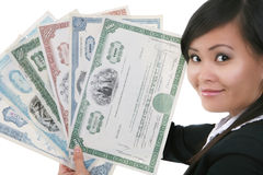 Frauen-Holding-Ablage Lizenzfreies Stockfoto