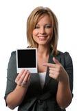 Frauen-Holding-Polaroid Lizenzfreie Stockfotos