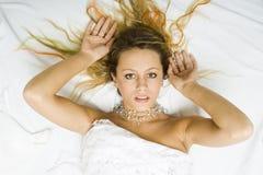 Frauen im Bett Lizenzfreies Stockbild