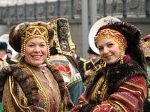 Frauen im nationalen Kleid Lizenzfreie Stockfotografie