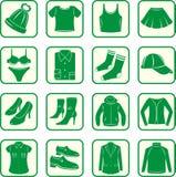 Frauen, Kleidung der Männer vektor abbildung