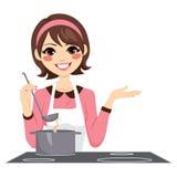 Frauen-Kochen glücklich Lizenzfreies Stockbild