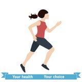 Frauen-laufende Vektor-Illustration Lizenzfreies Stockbild