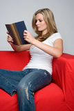 Frauen-Lesebuch Stockfoto