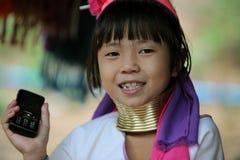 FRAUEN LONGNECK ASIENS THAILAND CHIANG MAI Stockbild