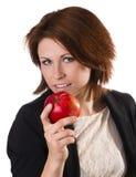 Frauen mit Apfel Stockbild