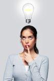 Frauen mit einer hellen Idee Stockbild