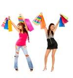 Frauen mit Einkaufenbeuteln Lizenzfreie Stockbilder