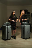 Frauen mit EMS-Station Lizenzfreie Stockbilder