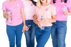 Frauen mit Flaschen Wasser Lizenzfreies Stockfoto
