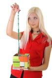 Frauen mit Geschenk Stockfotografie