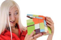 Frauen mit Geschenk Lizenzfreies Stockbild