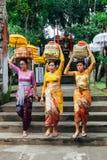 Frauen mit Korb auf dem Kopf Lizenzfreie Stockfotos