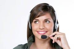 Frauen mit Mikrofon Stockbilder