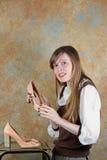 Frauen mit Schuhen Stockbilder