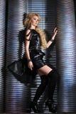 Frauen-Mode-Schönheits-Porträt, vorbildliches Girl Hairstyle, blondes Haar Lizenzfreie Stockfotografie